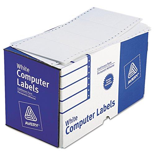 Avery 4076 Dot Matrix Printer Shipping Labels, 1 Across, 2 15/16 x 5, White (Box of 3000)