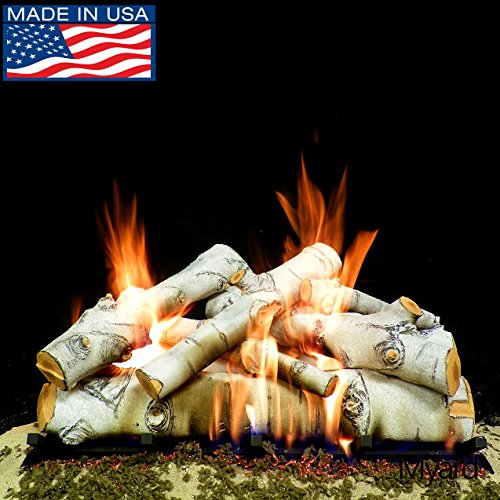 Check Out This PayandPack Myard Deluxe 30 Sierra Birch Fire Gas Logs (LOGS ONLY) for Natural Gas/Li...