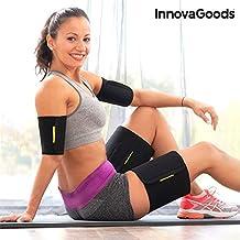 InnovaGoods IG813635 Sportbanden met sauna-effect voor armen en benen (4 stuks), zwart, Unitalla