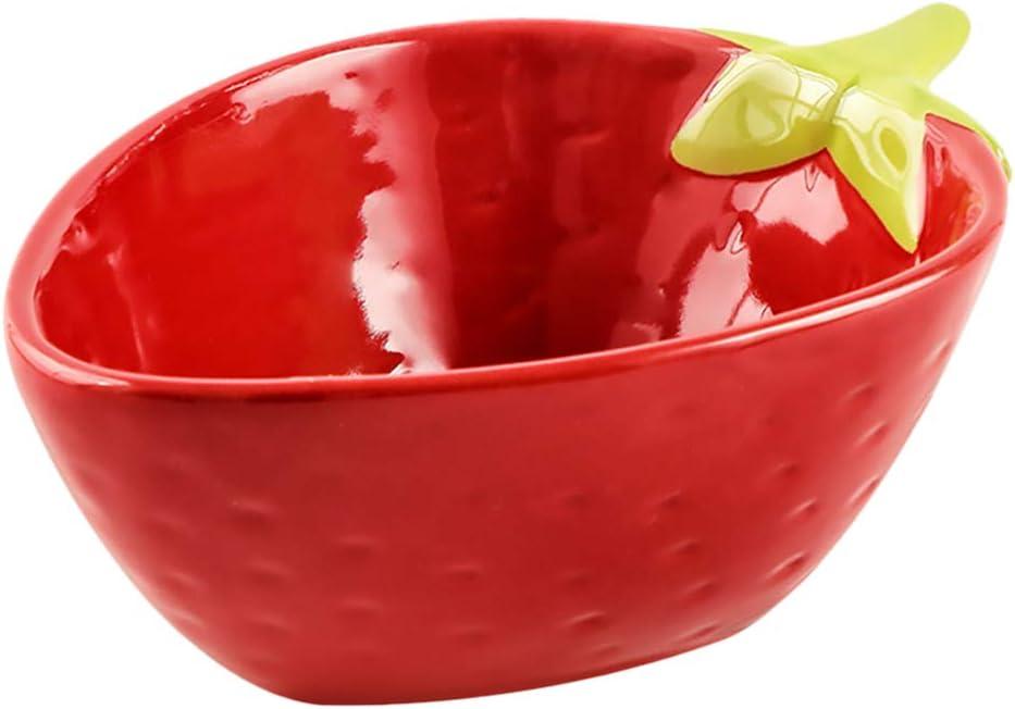 Cabilock Strawberry Shaped Serving Bowl Salad Limited time sale Stur Bowls Ceramic Ranking TOP10