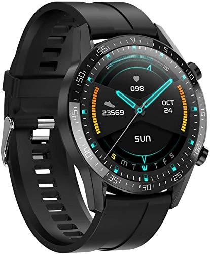 zfj Relojes Inteligentes Pulseras Deportes Bluetooth Tiempo Real Monitoreo de Temperatura Monitoreo de Salud IP68 Impermeable Rojo-Negro