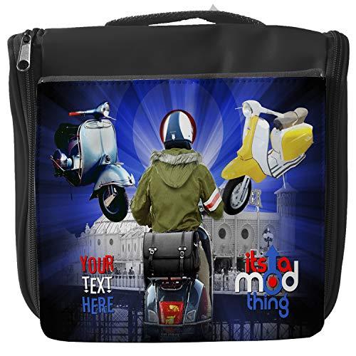 Personalised Chopper MOD Scooter Vespa Travel Toiletry Bag Hanging Wash Bag Toiletries Shower Case KS64