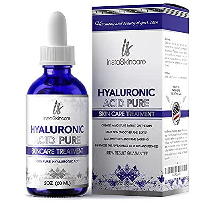 Hyaluronic Acid for Face (2 oz) - 100% Pure Medical Quality Clinical Strength Formula - Anti aging formula for your skin