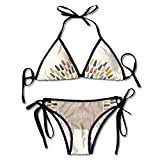 Bikini Set, Dame un Abrazo Bikinis para Mujer Traje de baño Bikini con Estampado Duradero
