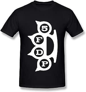 UrsulaA Mens Casual Five Finger Death Punch Tshirt Black