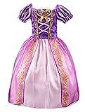Fille Robe de Princesse Raiponce Costume pour Enfants Manches Courtes Bouffante Robe...