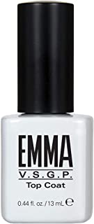 EMMA Beauty Top Coat Treatment for UV/LED Light Cure Gel Polish, 0.44 fl. oz.