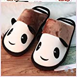 ypyrhh Impermeable Zapatillas de Estar por casa para,Lovely Couple Sleeping Shoes, Warm and Comfortable Cotton Slippers-Khaki_39-40