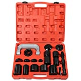 Ball Joint Press Tool Set, 21 Piece Universal Ball Joint Service Tools Heavy Duty Ball Joint Repair Removal Installation Kit with Adapters and Portable Carrying Case for Car Automotive Light Truck