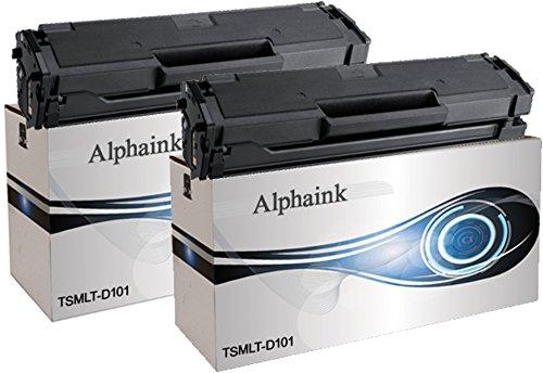 2 Toner Alphaink Compatibile con Samsung MLT-D101 versione da 1500 copie per stampanti Samsung ML-2160 2161 2162 2164 2165 2168 3400 SCX-3400 3401 3405 SF-760 765
