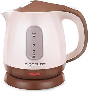 Aigostar Romeo 30HIP - Bouilloire électrique compacte d'une capacité de 1 litre, sans BPA et silencieuse. Couleur marron, ...