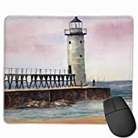 """Manistee North Pierhead Lighthouse Mouse Pad Non-Slip Rubber Gaming Mouse Pad Rectangle Mouse Pads for Computers Desktops Laptop 9.8"""" x 11.8"""""""