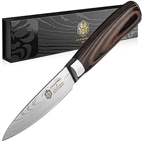 Kessaku Paring Knife - Samurai Series - Japanese Etched High Carbon Steel,...