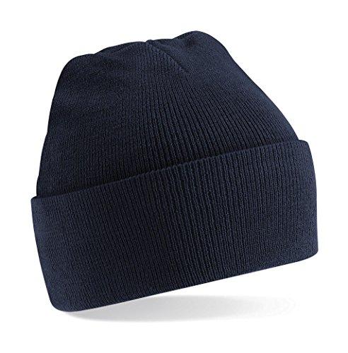 Beechfield Unisex Turn-up Beanie Baseballkappe, Blau (Französisch Marineblau), Einheitsgröße