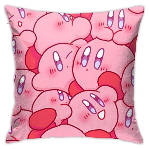 Kirby-Funda de cojín de dibujos animados para sofá, cama, decoración del hogar, 45 x 45 cm