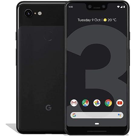 """Google Pixel 3 XL (64GB, 4GB) 6.3"""" QHD+, IP68 Water Resistant, Snapdragon 845, GSM/CDMA Factory Unlocked (AT&T/T-Mobile/Verizon/Sprint) w/ Fast Qi Wireless Pad - Just Black"""