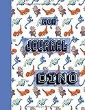 Mon Journal Dino: Format 8,5 x 11 pouces, 110 pages, cahier ligné, peut servir comme carnet de notes, journal, notebook, bloc notes - Couverture ... bleu vert marron - à remplir, idée cadeau
