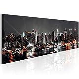murando Cuadro de Cristal acrílico Nueva York City NY 135x45 cm Impresión de 1 Pieza Pintura sobre Vidrio Imagen Gráfica Decoracion de Pared - New York NY Ciudad Cityd d-B-0055-k-a