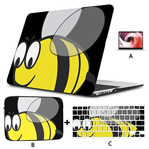 Macbook Accessories 13 Inch Bumblebee Bumble Bee Bee Wasp Insect Hornet Fat Macbook Cover 15 Inch Hard Shell Mac Air 11'/13' Pro 13'/15'/16' With Notebook Sleeve Bag For Macbook 2008-2020 Version