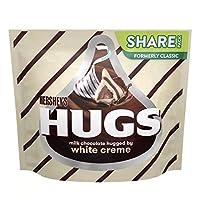 Hershey's ハグ ミルクチョコレート ハグ バイ ホワイトクリーム 300g(10.6oz) / Hugs Milk Chocolates hugged by White Creme [海外直送品] [並行輸入品]