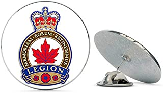 Royal Canadian Legion Crest Shaped (Logo Canada Province) Metal 0.75
