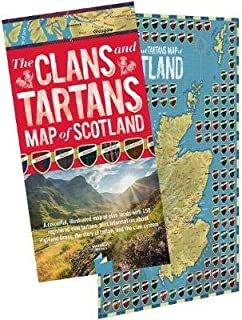 The Clans and Tartans Map of Scotland (folded): A colourful, illustrated map of clan lands with 150 registered clan tartan...