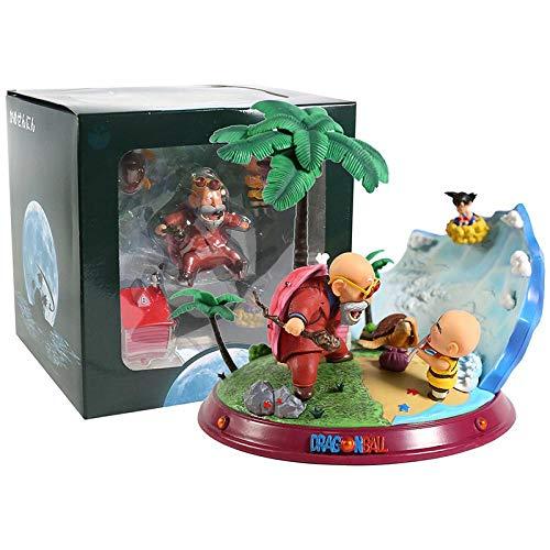 Dragon Ball Z Master Roshi & Chil Son Goku Krillin PVC Figure Statue Collectible Model Toy Box image