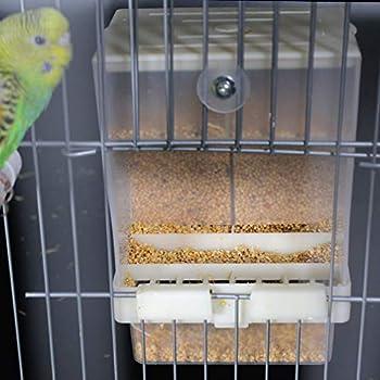 Balacoo Distributeur Automatique de légumes Anti-Propagation Accessoires de Cage à mangeoire pour Oiseaux pour Periquito cacatúa Canaria Pinzón Periquito conteneur de Nourriture pour graines