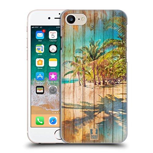 Head Case Designs Playa Mezcla de Estampados de Madera Carcasa rígida Compatible con Apple iPhone 7 / iPhone 8 / iPhone SE 2020
