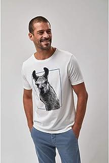 Camiseta Lhama - Off White
