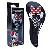Disney Minnie Mouse Brosse à Cheveux, Brosse à Cheveux pour Filles, Design Embouts Souples, Démêlant Tous les Types de Cheveux, Cadeaux pour Dames, Filles et Adolescents!