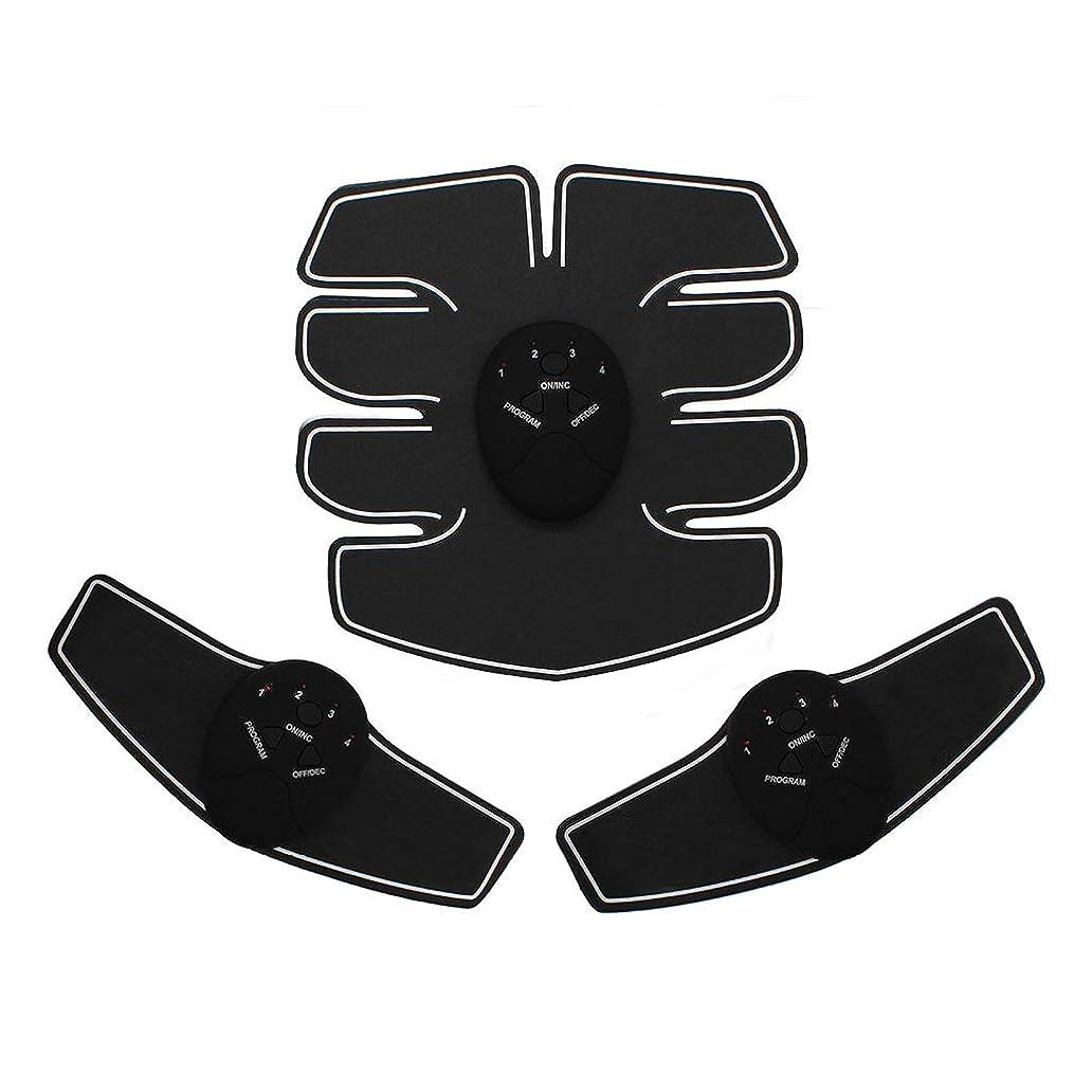 政治飛ぶ先例EMS腹筋トレーナーAbベルト、腹部筋肉トナー腹部カラーベルトホームスマート筋肉トレーニングフィットネス機器ボディボディビル腹部ベルト筋肉腹部トレーナー筋肉トナー (Color : BLACK, Size : 23*21*4.8CM)