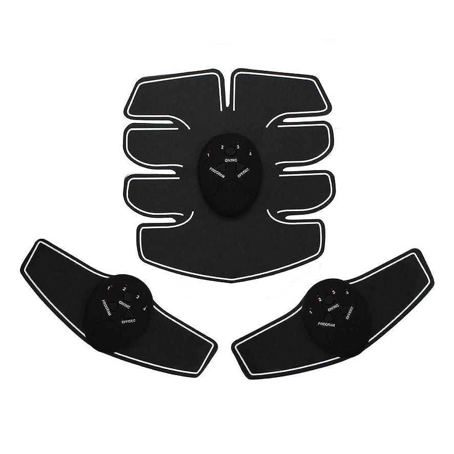 ロック改善する同種のEMS腹筋トレーナーAbベルト、腹部筋肉トナー腹部カラーベルトホームスマート筋肉トレーニングフィットネス機器ボディボディビル腹部ベルト筋肉腹部トレーナー筋肉トナー (Color : BLACK, Size : 23*21*4.8CM)