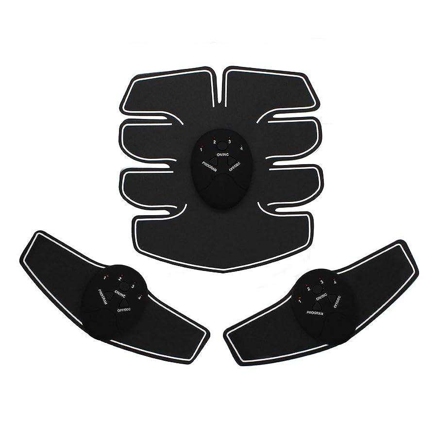 入植者嫉妬精度EMS腹筋トレーナーAbベルト、腹部筋肉トナー腹部カラーベルトホームスマート筋肉トレーニングフィットネス機器ボディボディビル腹部ベルト筋肉腹部トレーナー筋肉トナー (Color : BLACK, Size : 23*21*4.8CM)