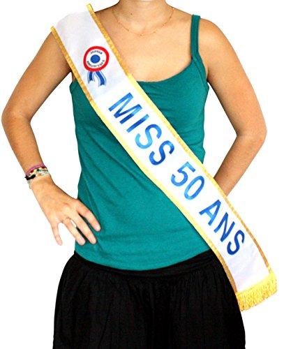 Echarpe Miss 50 ans - Deguisement - Anniversaire - 184cm - 55613