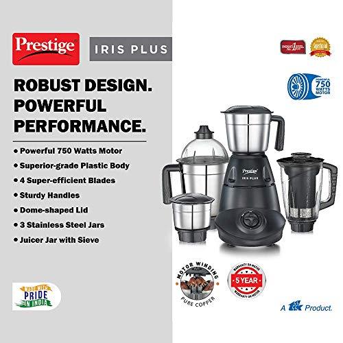 Prestige IRIS Plus 750 watt mixer grinder