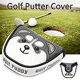 lembrd Golf Schlägerkopfhüllen, Golfschläger Kopfbedeckung Putter-Abdeckung Mit Magnetverschluss...