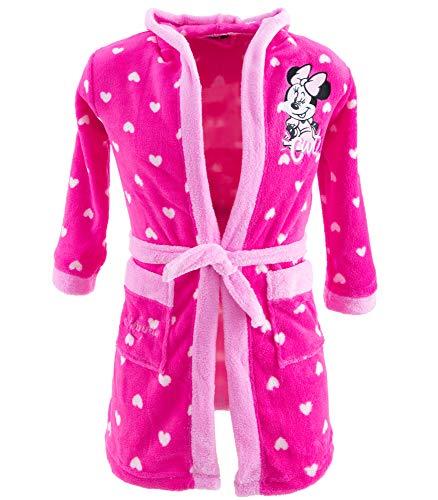 NEU Minnie Maus Mädchen Bademantel mit Kapuze (Pink, 128-134)