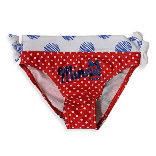 Disney Costume Da Mare Ufficiale Minnie Per Bambina Slip Piscina 3124 Rosso 3 Anni