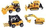 ToyZe Set 5 in metallo e plastica diecast per veicoli da costruzione, bulldozer, carrello ...