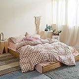 BFMBCH Baumwolle gewaschen Baumwolle vierteilige Bettlaken Bettbezug Heimtextilien Bettwäsche E 200cm * 230cm