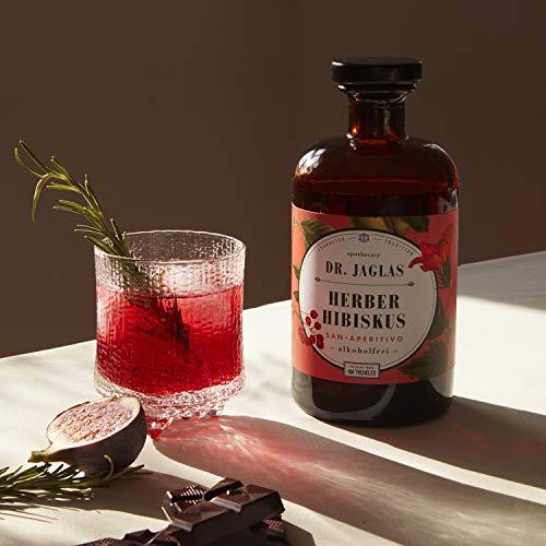 Dr. Jaglas Herber Hibiskus – San Aperitivo / alkoholfreier Gin / alkoholfreier Aperitif / ideal für alkoholfreie Cocktails & als alkoholfreie Spirituose / Herb-süßer Long Drink ohne Alkohol - 4