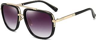 Oversized Square Sunglasses for Men Women Pilot Shades Gold Frame Retro Brand Designer
