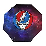 Grate-Ful Dead Bear Windproof Automatic Retractable Folding Lightweight Umbrella Travel Umbrella