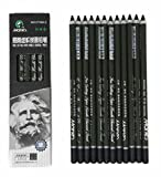 Best Charcoal Pencils - Charcoal Pencil Set - 12pcs/pk - Black Free Review