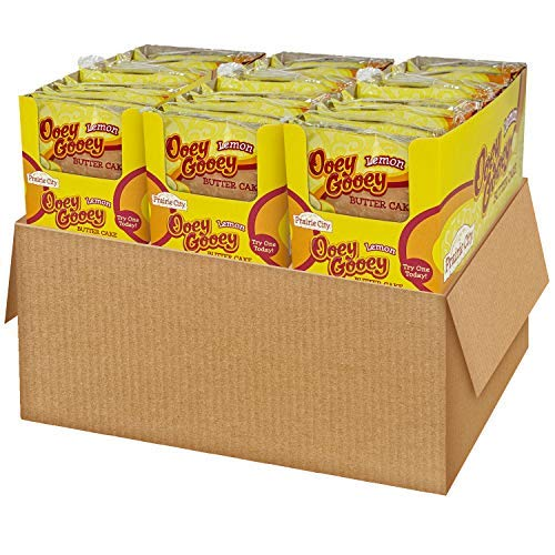 Prairie City Bakery Lemon Ooey Gooey Butter Cake, 3 Boxes, 30 Individually Wrapped Cakes
