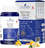 Neuherbs Deep Sea Omega 3 Fish Oil 2500 Mg (Omega 3 1486 mg; 892 mg EPA; and 594 mg DHA per serving) : 60 Soft gel capsules