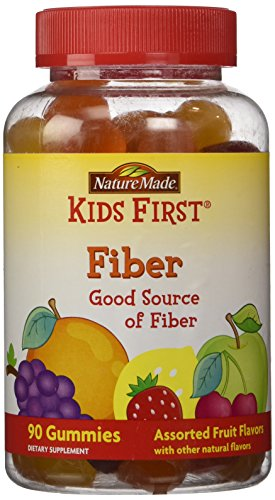 Nature Made Kid's First Fiber Gummies - 90 Count Assorted Fruit Flavors