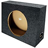 Single 12' Subwoofer Regular Standard Cab Truck Sub Box Enclosure 5/8' MDF
