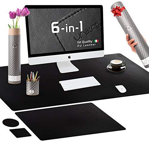 Premium - Almohadilla de escritorio para oficina, color negro